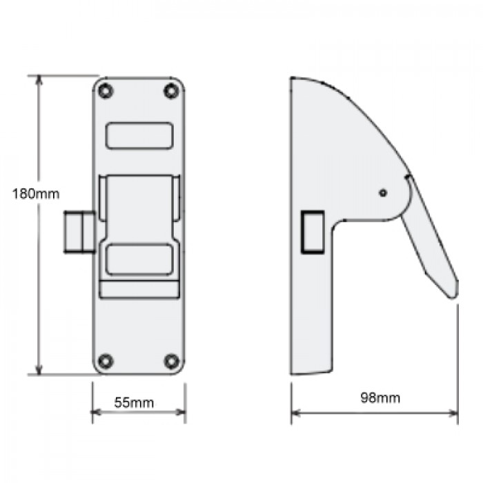Securefast Sed993 Emergency Exit Push Pad Latch