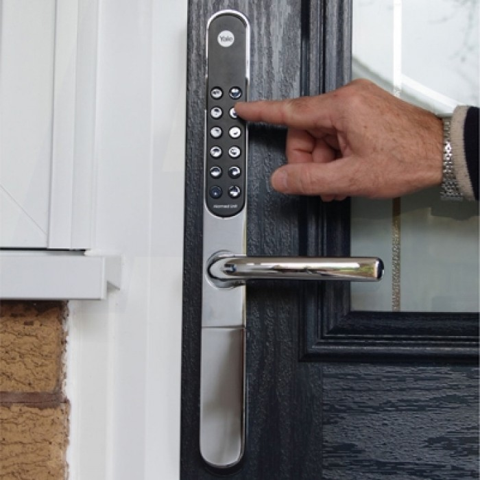 Yale Composite Front Doors: Yale Keyfree Connected Smart Lock
