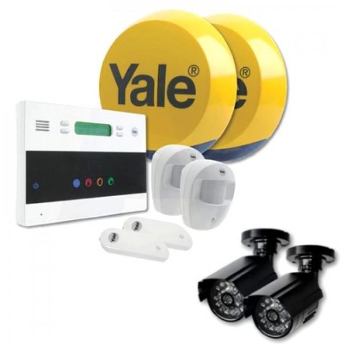 yale ef kit2 dc1x2 alarm kit with 2 free dummy cctv cameras. Black Bedroom Furniture Sets. Home Design Ideas