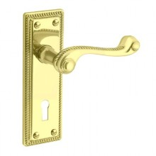 Classic Georgian Plate Mounted Mortice Lock Lever Furniture