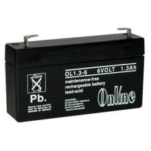Online OL1 6 Volt 1.3Ah Sealed Lead Acid Battery