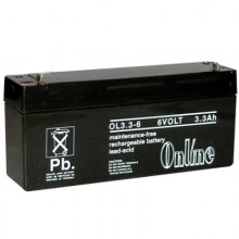 Online OL3 6 Volt 3.3Ah Sealed Lead Acid Battery Online