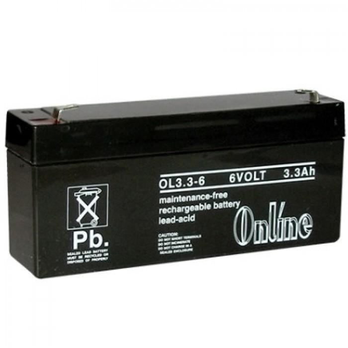 lynteck ol3 3 6 6 volt 3 3ah sealed lead acid battery. Black Bedroom Furniture Sets. Home Design Ideas