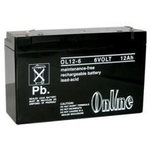 Online OL12 6V 12Ah Sealed Lead Acid Battery