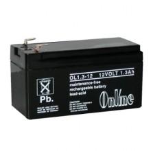 Online OL1 12V 1.3Ah Sealed Lead Acid Battery Online