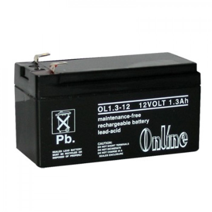 lynteck ol1 3 12 12v 1 3ah sealed lead acid battery. Black Bedroom Furniture Sets. Home Design Ideas