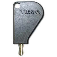 Titon Select Espag Key With Black Plastic Head