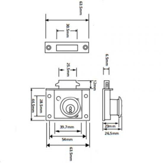 Union 43036 Cylinder Claw Lock