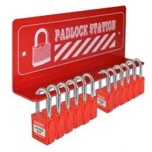 12 Padlock Mini Lockout Tagout Station
