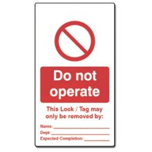 Double Sided Lockout Tagout Tags