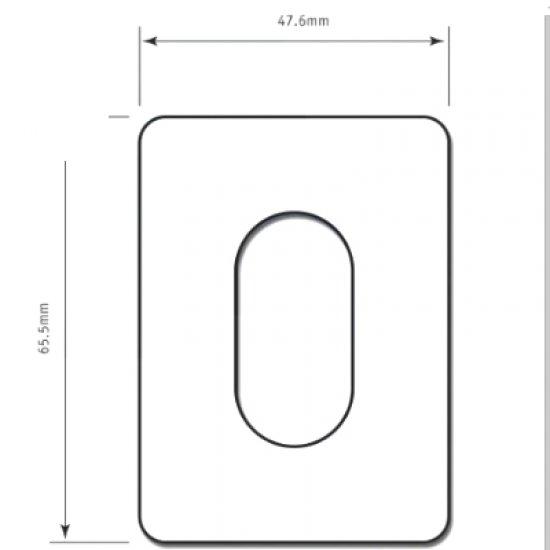 Self Adhesive Oval Escutcheon
