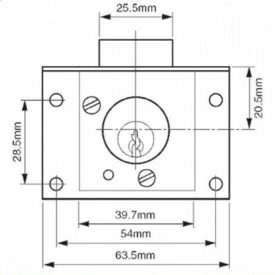 Union 4003 Cylinder Cut Drawer Lock