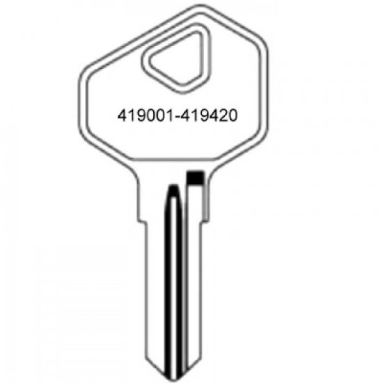 Euro Locks 25 Series Cabinet Keys