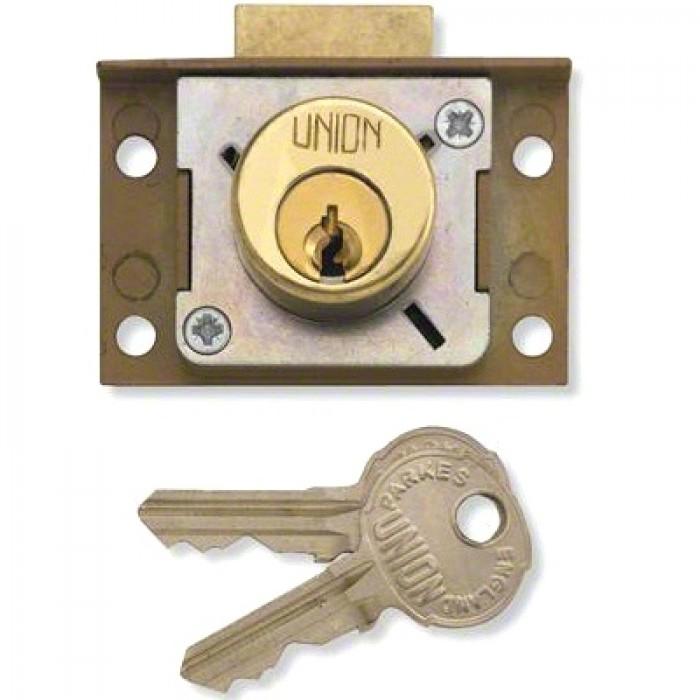 Union 4138 Cylinder Springbolt Cut Cupboard Till Lock