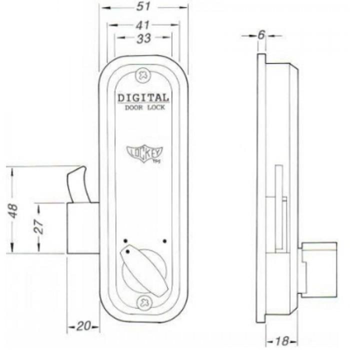 rim hook bolt digital lock for sliding doors. Black Bedroom Furniture Sets. Home Design Ideas