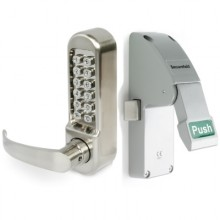 Emergency Push Pad Latch with External Digital Lever Keypad