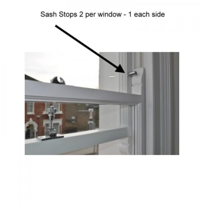 Asec Wooden Window Sash Stop Lock