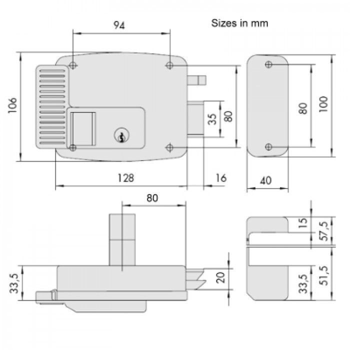 11931qc 700x700 electric lock for external metal doors and gates cisa electric lock wiring diagram at n-0.co