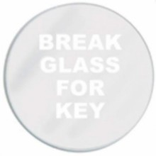 Spare Glass for Round Key box pack of 5