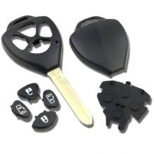 4 Button Sliding Door Remote Case To Suit Toyota
