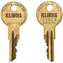 Illinois 550CH Replacement Switch Key
