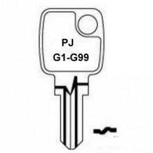 PJ Petrol Cap Keys G1 to G99