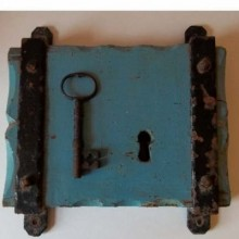 Antique Gate Lock To City