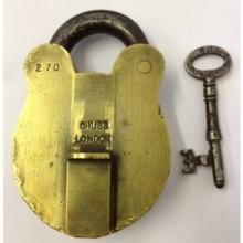 Antique Solid Brass Chubb London Padlock