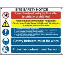Composite Site Safety Poster 800mm x 600mm PVC Sign