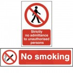 Smoking and Prohibition Signs
